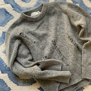 RD STYLE Limited Edition Distressed Grey Sweater